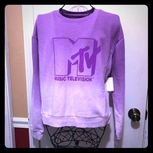 Juniors MTV Purple Light Sweatshirt